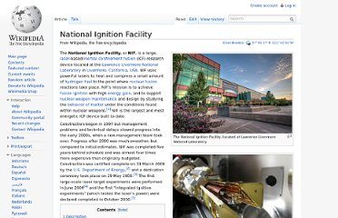 http://en.wikipedia.org/wiki/National_Ignition_Facility
