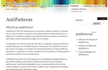 http://sourcemaking.com/antipatterns