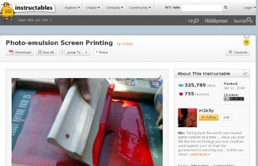 http://www.instructables.com/id/Photo-emulsion-Screen-Printing/