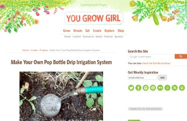 http://www.yougrowgirl.com/2001/05/30/make-your-own-pop-bottle-drip-irrigation-system/