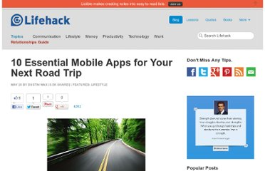 http://www.lifehack.org/articles/lifestyle/10-essential-mobile-apps-for-your-next-road-trip.html