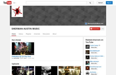 http://www.youtube.com/user/shermanaustinmusic?feature=autoshare