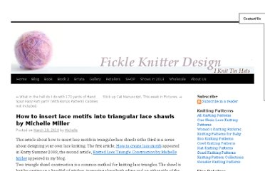 http://www.fickleknitter.com/archives/2010/03/how-to-insert-lace-motifs-into-triangular-lace-shawls-by-michelle-miller.htm