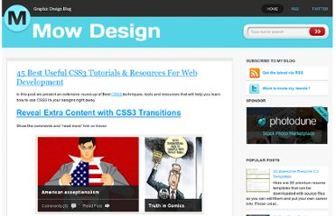 http://mowdesign.blogspot.com/2010/12/45-best-useful-css3-tutorials-resources.html