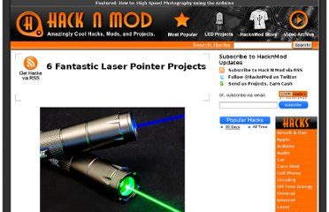 http://hacknmod.com/hack/6-fantastic-laser-pointer-projects/