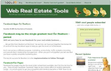 http://www.webrealestatetools.com/real-estate-tools/facebook-applications-for-realtors