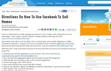 http://activerain.com/blogsview/259503/directions-on-how-to-use-facebook-to-sell-homes