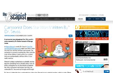 http://www.escapistmagazine.com/news/view/105862-Cartoonist-Does-Star-Wars-Written-By-Dr-Seuss