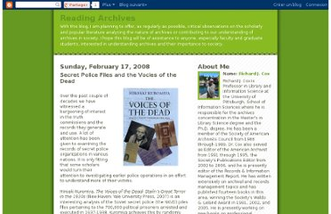 http://readingarchives.blogspot.com/2008/02/secret-police-files-and-vocies-of-dead.html