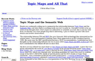 http://topicmaps.wordpress.com/2008/05/11/topic-maps-and-the-semantic-web/
