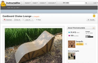 http://www.instructables.com/id/Cardboard-Chaise-Lounge/