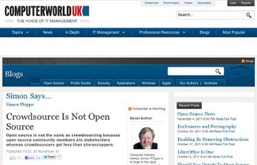 http://blogs.computerworlduk.com/simon-says/2010/11/crowdsource-is-not-open-source--/index.htm