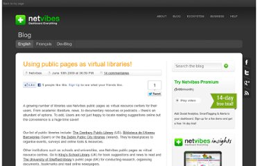 http://blog.netvibes.com/using-public-pages-as-virtual-libraries/