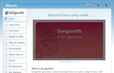 http://research.microsoft.com/en-us/um/redmond/projects/songsmith/