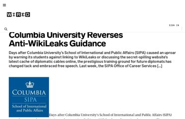 http://www.wired.com/threatlevel/2010/12/columbia-wikileaks-policy/