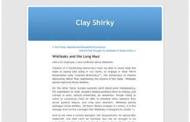 http://www.shirky.com/weblog/2010/12/wikileaks-and-the-long-haul/
