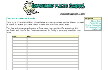 http://www.crosswordpuzzlegames.com/create.html