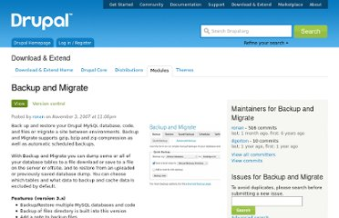 http://drupal.org/project/backup_migrate