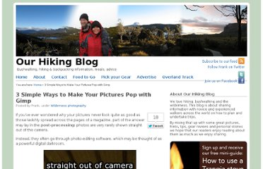 http://ourhikingblog.com.au/2010/11/3-simple-ways-to-make-your-pictures-pop-with-gimp.html