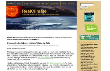 http://www.realclimate.org/index.php/archives/2009/09/communicating-science-not-just-talking-the-talk/