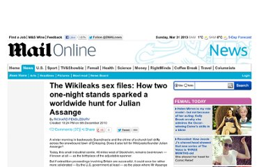 http://www.dailymail.co.uk/news/article-1336291/Wikileaks-Julian-Assanges-2-night-stands-spark-worldwide-hunt.html