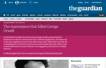 http://www.guardian.co.uk/books/2009/may/10/1984-george-orwell
