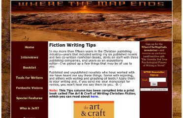 http://wherethemapends.com/writerstools/writers_tools_pages/tip_of_the_week.htm