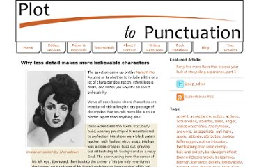 http://www.plottopunctuation.com/blog/show/why-less-detail-makes-more-believable-characters