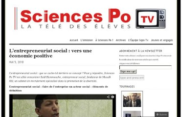 http://sciencespotv2.wordpress.com/2010/05/05/entreprenariatsocial/