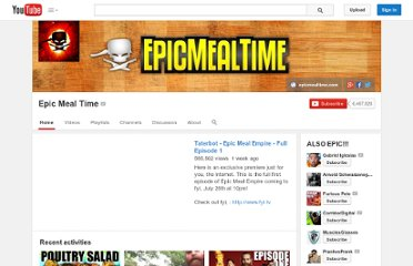 http://www.youtube.com/user/EpicMealTime