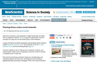 http://www.newscientist.com/article/dn19821-flaming-drives-online-social-networks.html