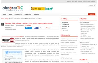 http://www.educacontic.es/blog/teacher-tube-videos-audios-fotos-y-documentos-educativos