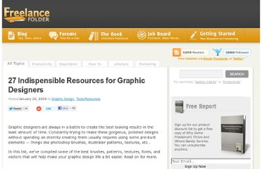 http://freelancefolder.com/27-indespensible-resources-for-graphic-designers/