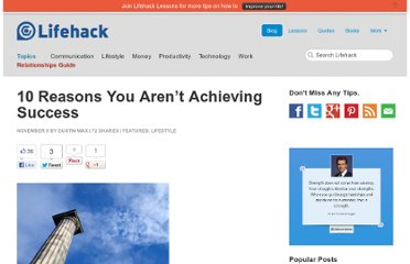 http://www.lifehack.org/articles/lifestyle/10-reasons-you-arent-achieving-success.html