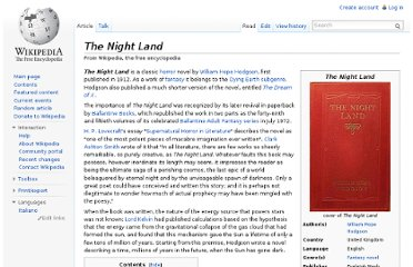 http://en.wikipedia.org/wiki/The_Night_Land