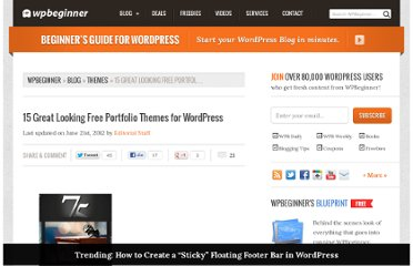 http://www.wpbeginner.com/wp-themes/15-great-looking-free-portfolio-themes-for-wordpress/