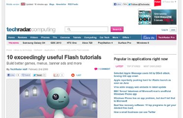http://www.techradar.com/news/software/applications/10-exceedingly-useful-flash-tutorials-516564
