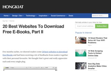 http://www.hongkiat.com/blog/20-best-websites-to-download-free-e-books-part-ii/