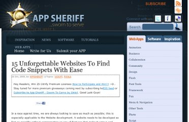 http://www.appsheriff.com/web-apps/script/15-unforgettable-websites-to-find-code-snippets-with-ease/
