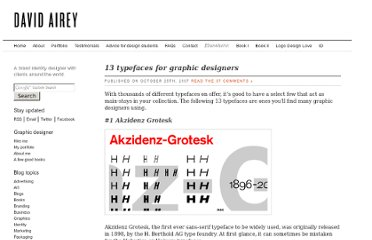 http://www.davidairey.com/13-typefaces-every-graphic-designer-needs/