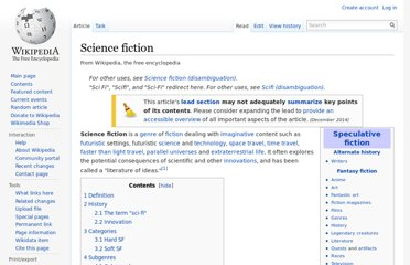 http://en.wikipedia.org/wiki/Science_fiction