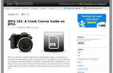 http://sixrevisions.com/graphics-design/jpeg-101-a-crash-course-guide-on-jpeg/
