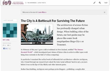 http://io9.com/5362912/the-city-is-a-battlesuit-for-surviving-the-future