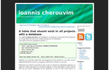 http://blog.cherouvim.com/a-table-that-should-exist-in-all-projects-with-a-database/