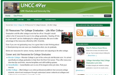 http://uncc49er.com/663/50-resources-for-college-graduates-life-after-college/