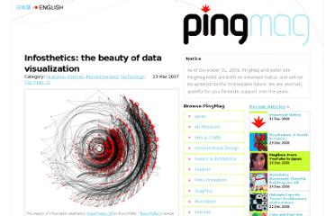 http://pingmag.jp/2007/03/23/infosthetics-form-follows-data/