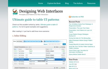 http://designingwebinterfaces.com/ultimate-guide-to-table-ui-patterns