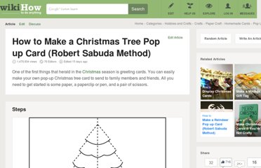 http://www.wikihow.com/Make-a-Christmas-Tree-Pop-up-Card-%28Robert-Sabuda-Method%29