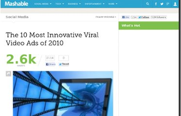 http://mashable.com/2010/12/09/innovative-viral-videos-2010/