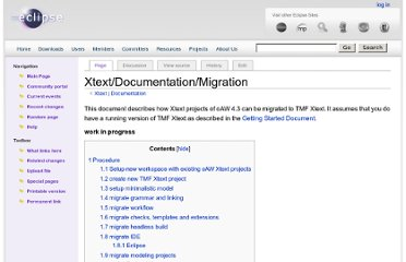 http://wiki.eclipse.org/Xtext/Documentation/Migration